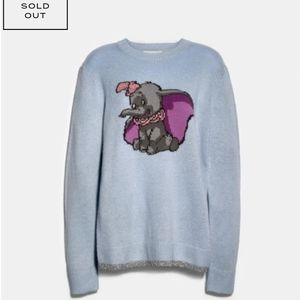 Coach x Disney dumbo Intarsia Sweater